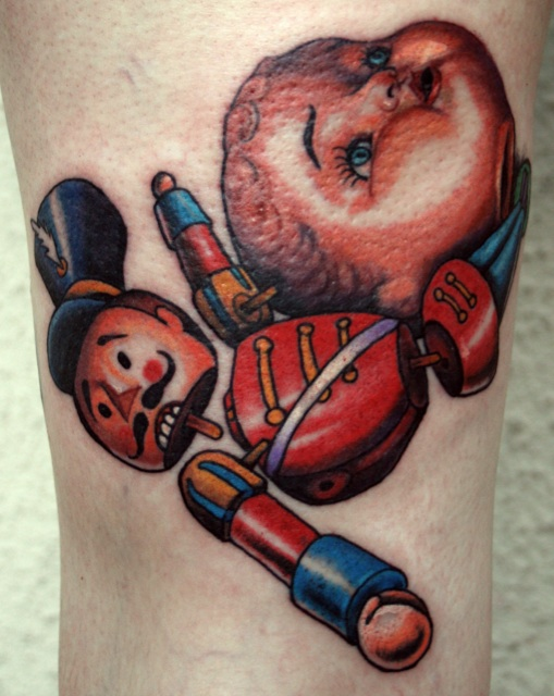 Toys For Tats : Doll head with toy soldier by shawn barber tattoonow