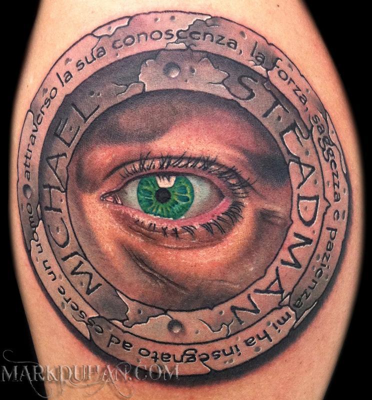 stone eye by mark duhan tattoonow. Black Bedroom Furniture Sets. Home Design Ideas