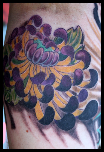 Japanese flower tattoo by Phil Robertson : Tattoos