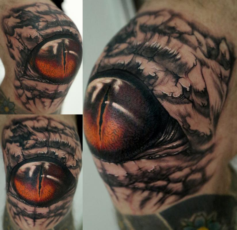 knee eye by stefano alcantara tattoos. Black Bedroom Furniture Sets. Home Design Ideas