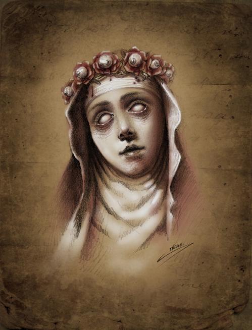 Santa rosa de lima by stefano alcantara original art for Tattoo santa rosa