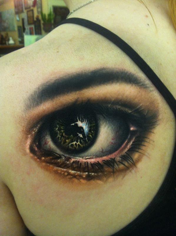 Realistic Eyeball Tattoo