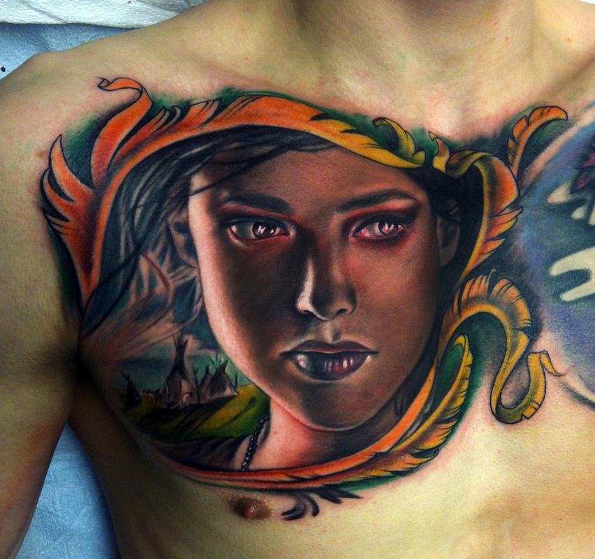 In Progress On The Chest By Johnny Smith : Tattoos
