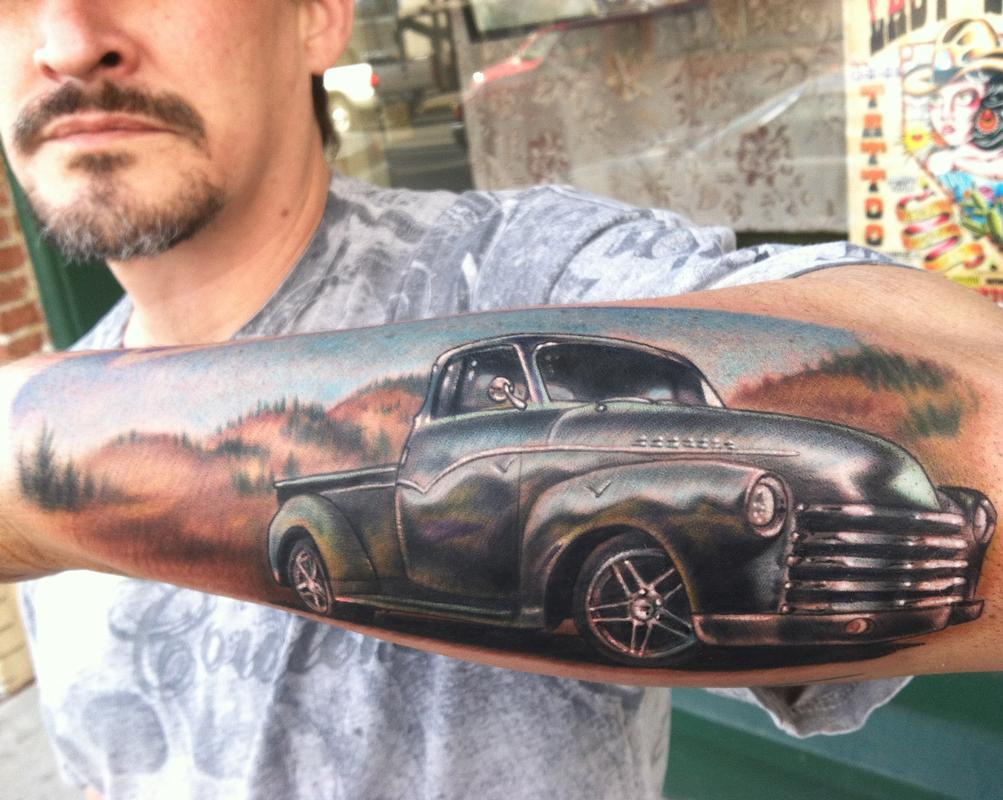 39 54 chevy by johnny smith tattoonow