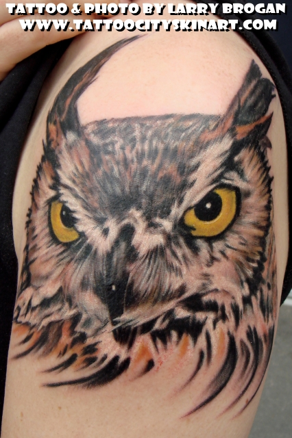 Off the map tattoo tattoos nature animal owl stevie the owl
