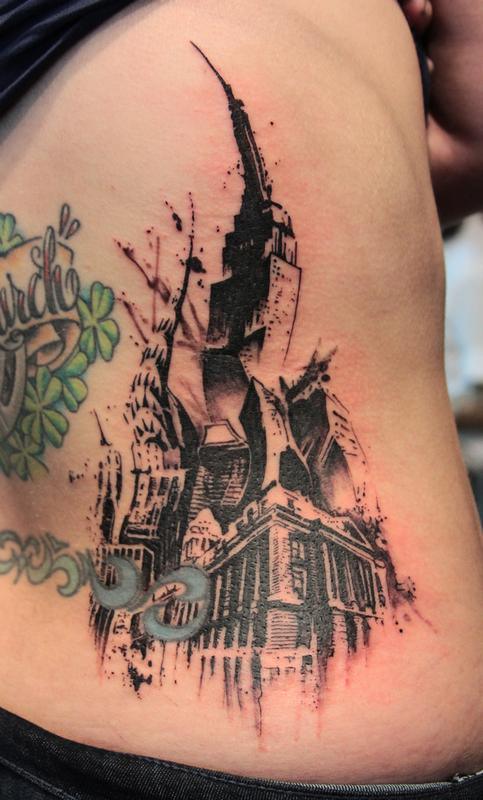 new york city tattoo by gene coffey tattoonow. Black Bedroom Furniture Sets. Home Design Ideas