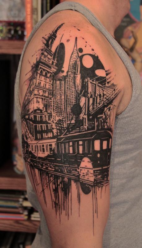 cityscape by gene coffey tattoonow
