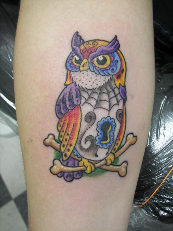 Day of The Dead Style Day of The Dead Style Owl