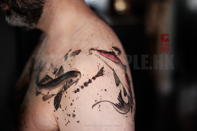 Dynamic ink brush by joey pang tattoonow for Hong kong tattoo