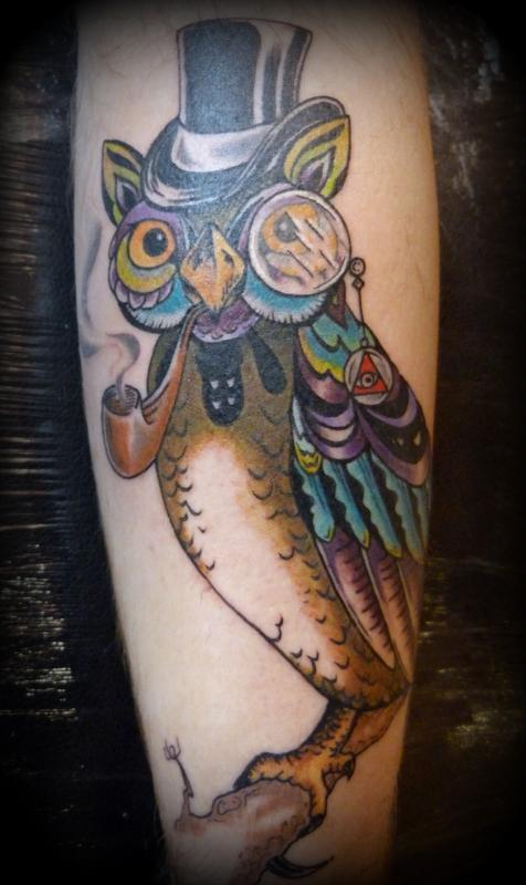 Here is an owl in a hat your argument is invalid by anna for Arguments against tattoos