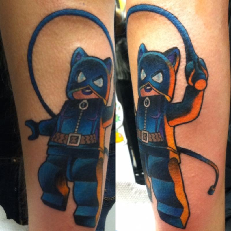 Lego Catwoman By Brian Gilley TattooNOW