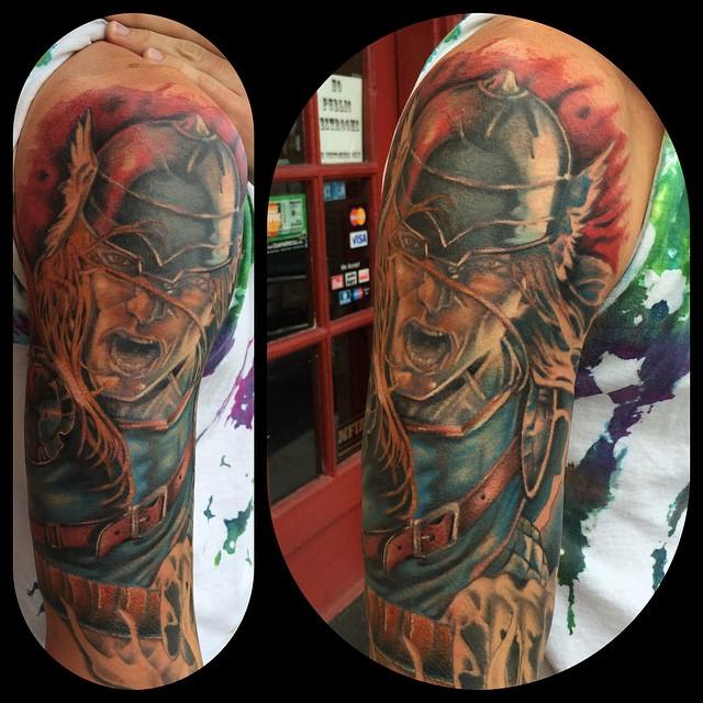 Thor by chad leever tattoonow for Tattoo shops lafayette la