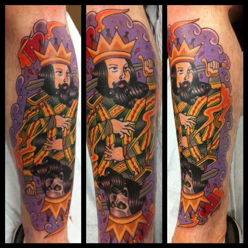 Suicide king by chris rogers tattoonow for Suicide kings tattoo
