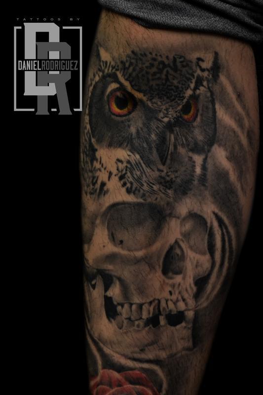 Cat Tattoo Tattoos Daniel Rodriguez Owl Skull Tattoo