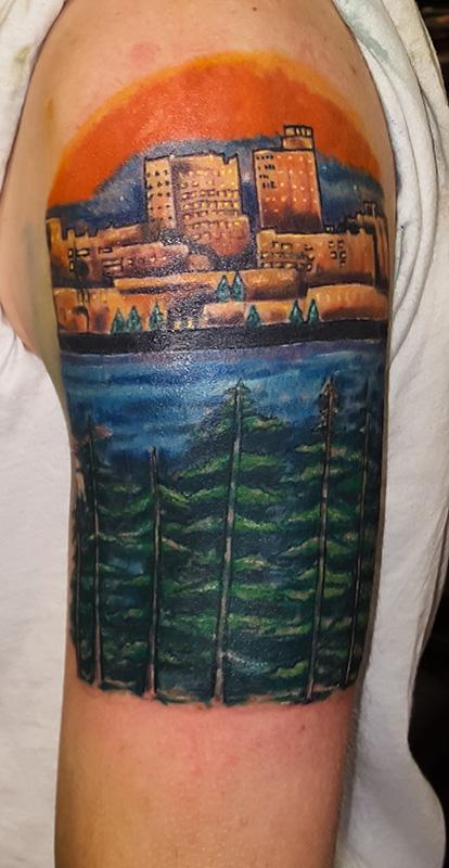 Portland maine landscape by frederick nitzman tattoonow for Portland oregon tattoo artists