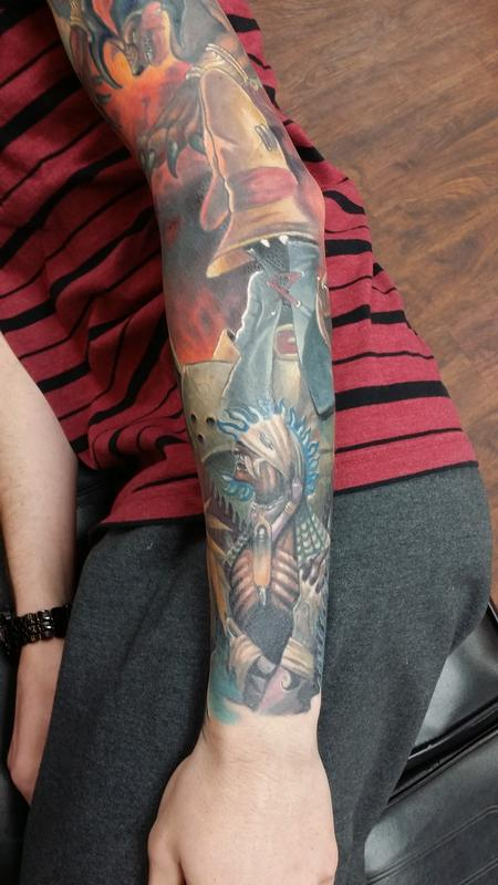 Partial final fantasy by halo tattoonow for Tattoos by halo