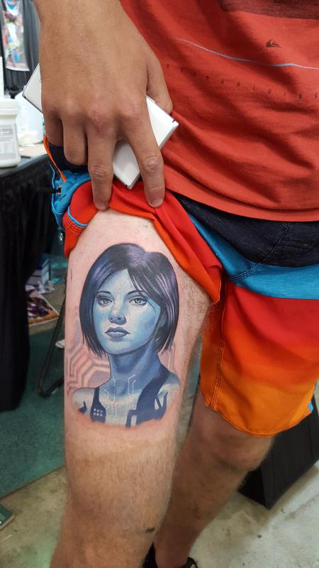 Cortana by halo tattoonow for Tattoos by halo