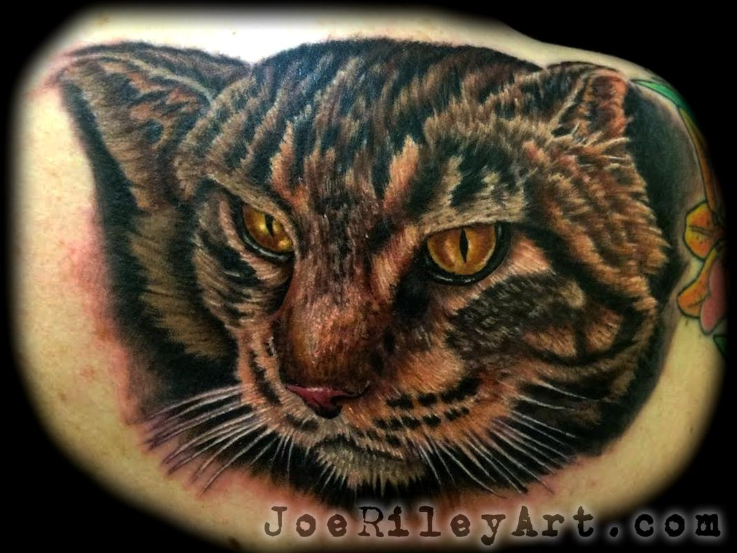 Cat tattoo by joe riley tattoonow for Las vegas tattoo artists