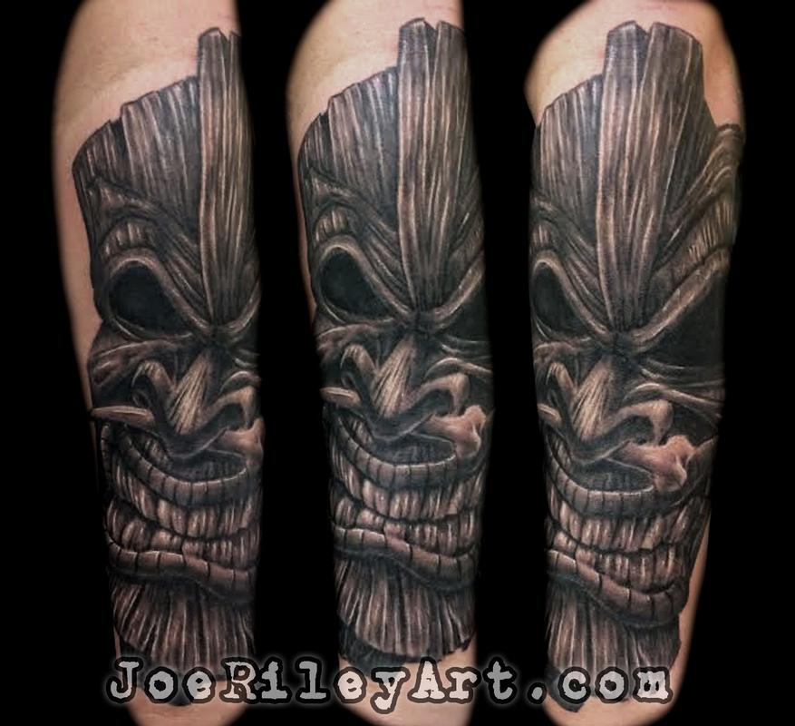 Tiki tattoo by joe riley tattoonow for Tattoo artists las vegas