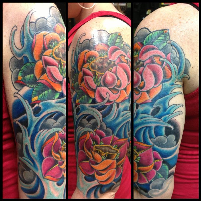 Color bomb lotus flowers and water by kr rossi tattoonow kr rossi color bomb lotus flowers and water mightylinksfo Choice Image