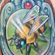 Bee in a frame tattoo Tattoo Design Thumbnail