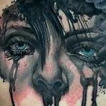 Crying Woman and Crow tattoo Tattoo Design Thumbnail