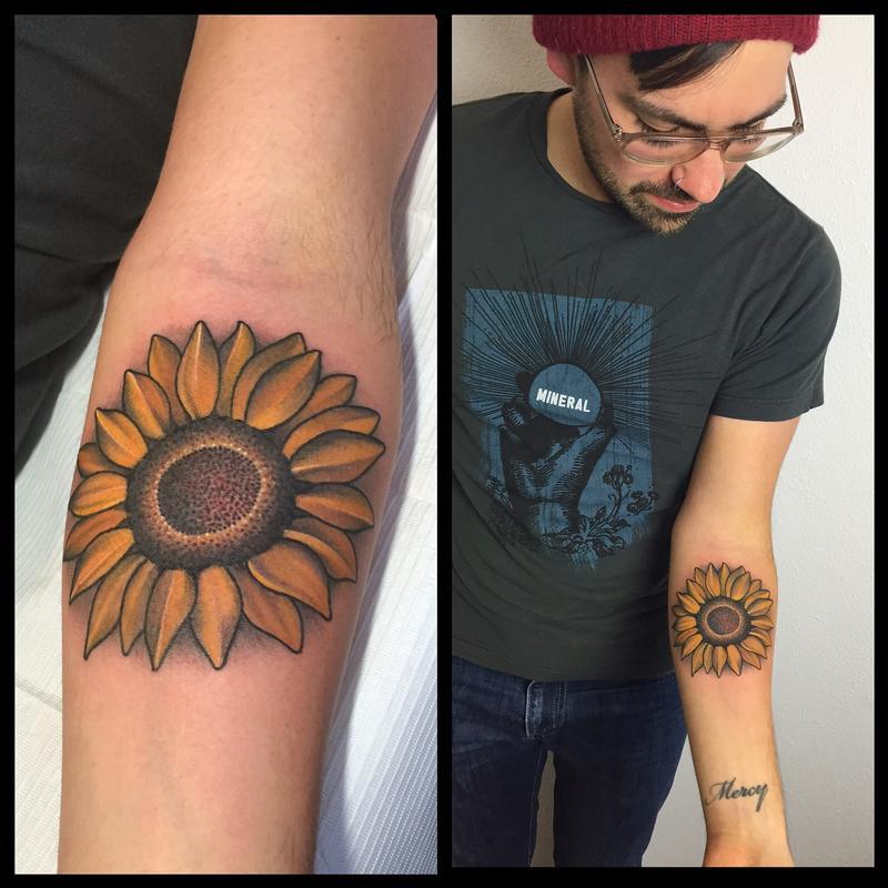 Sunflower Tattoo by Laura Jade : Tattoos