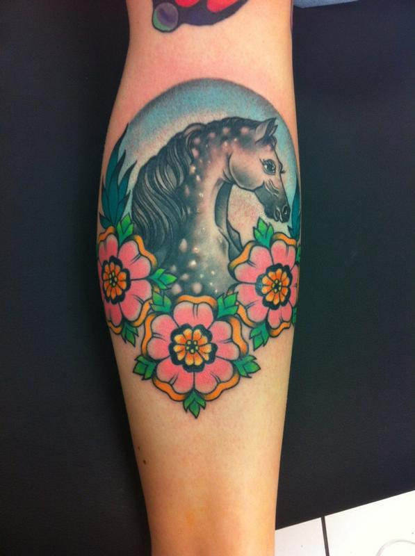 Traditional horse tattoo by rebecca smith for Horse tattoo traditional