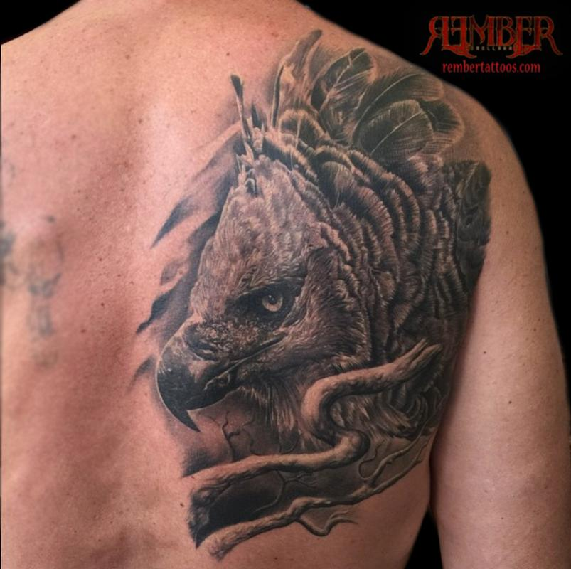 Dark age tattoo studio tattoos nature animal eagle for Black eagle tattoo shop
