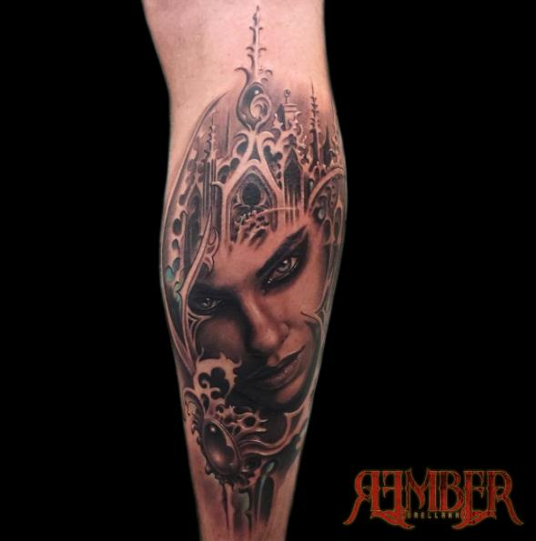 dark age tattoo studio tattoos rember gothic fantasy portrait. Black Bedroom Furniture Sets. Home Design Ideas