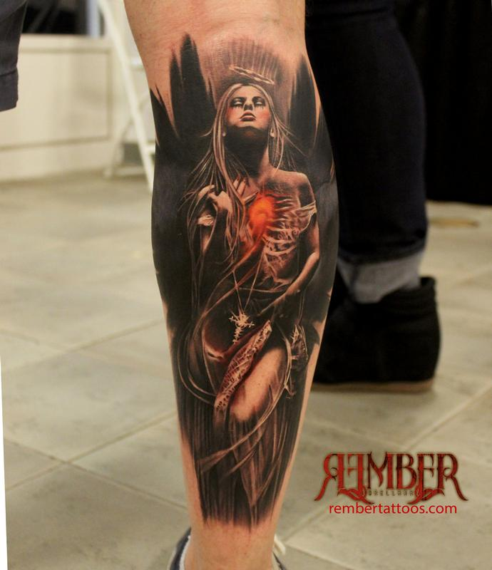 Dark Angel By Rember, Dark Age Tattoo Studio : Tattoos