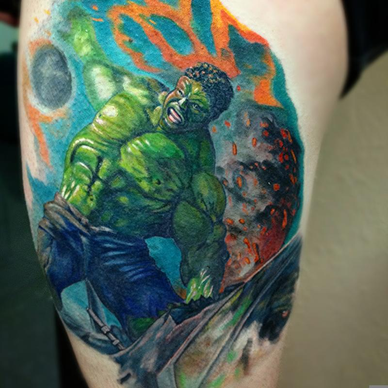 incredible hulk by robbie ripoll tattoonow. Black Bedroom Furniture Sets. Home Design Ideas