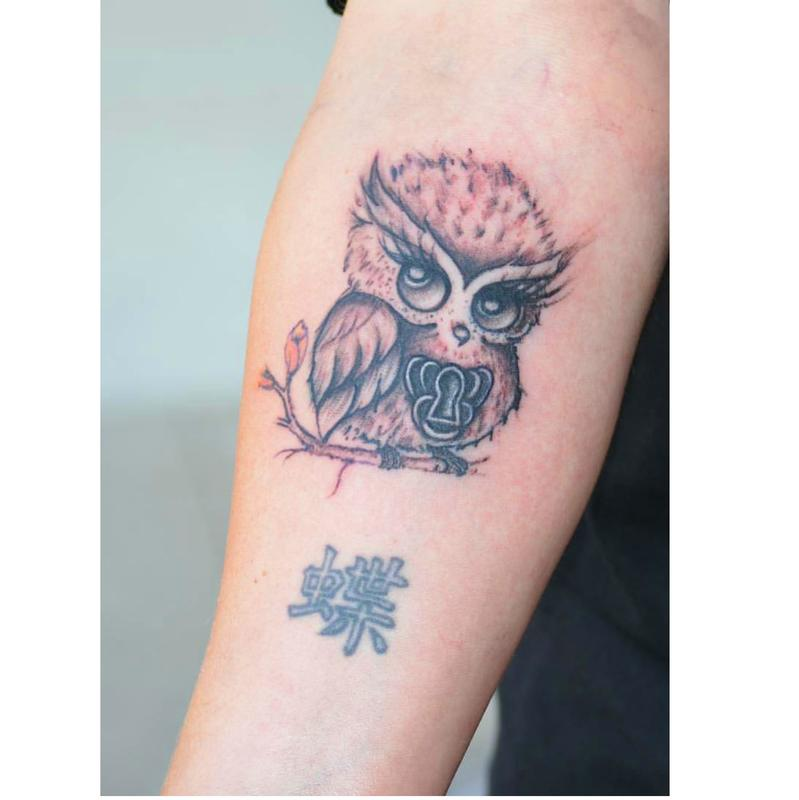 Little owl by samantha ishmiel tattoonow for Tattoo shops in champaign il