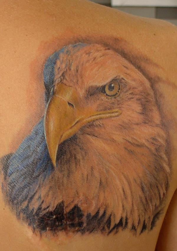 Eagle by sergey rikhter tattoonow for Tattoo bald spot