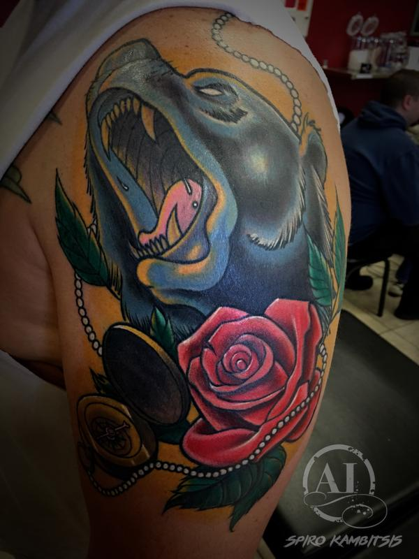 Lost in anguish by spiro kambitsis tattoonow for Tattoo shops in katy