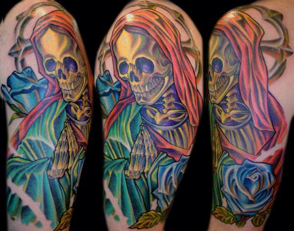 Terry Ribera - Praying Skull Tattoo