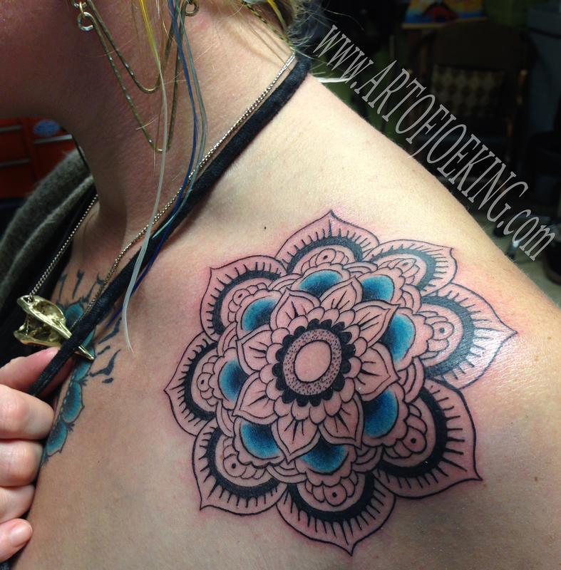 Mandala And Flower Tattoo: Off The Map Tattoo