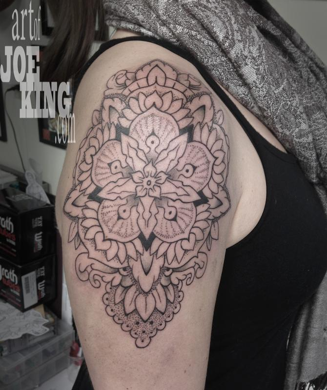 5 point floral mandala by joe king tattoonow for Five points tattoo