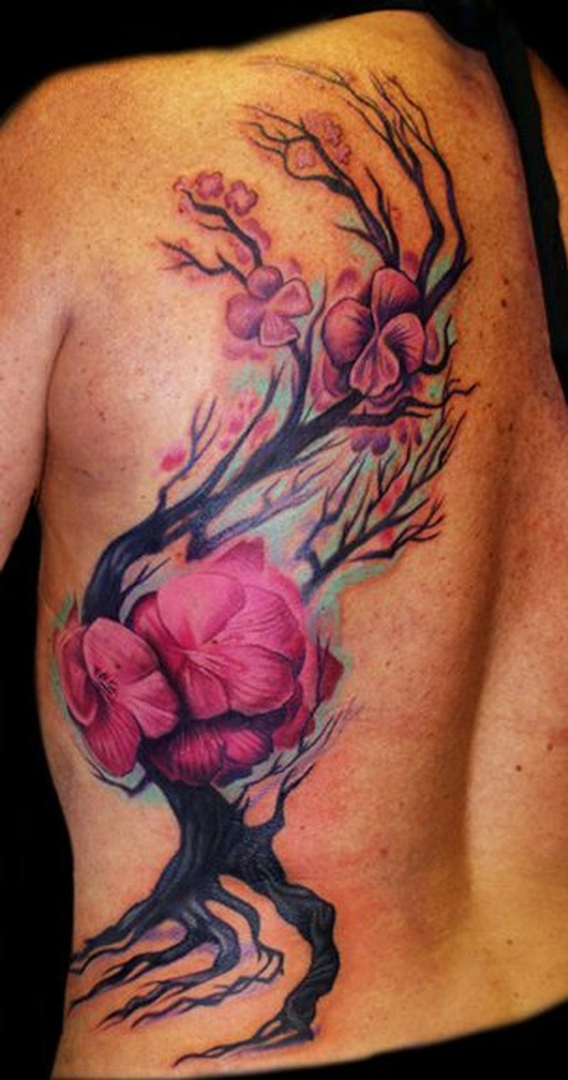 Cherry blosssom by ernesto nave tattoonow for Beauty mark tattoo