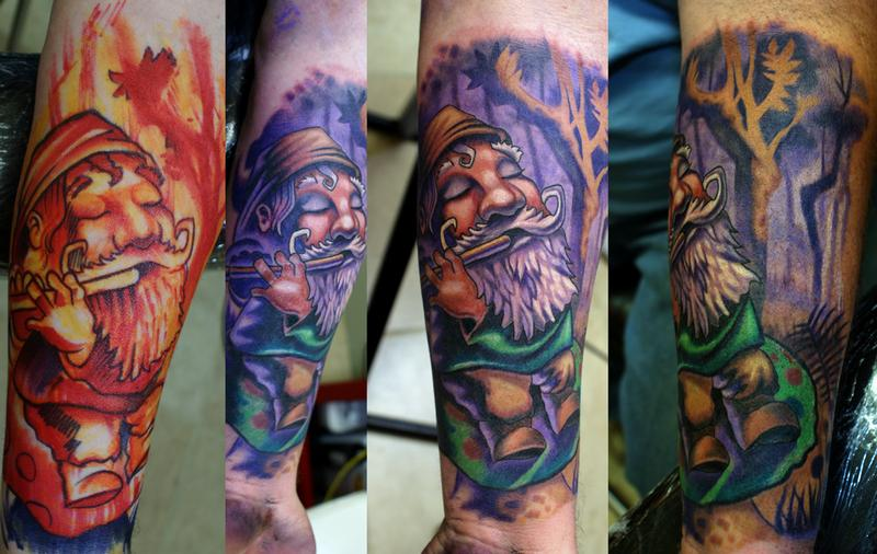 Sharpie gnome by ernesto nave tattoonow for Beauty mark tattoo