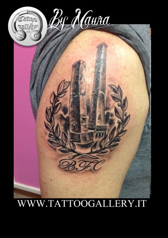 """Tattoo """" le 2 torri di Bologna"""" by Resident Artist Maura ..."""