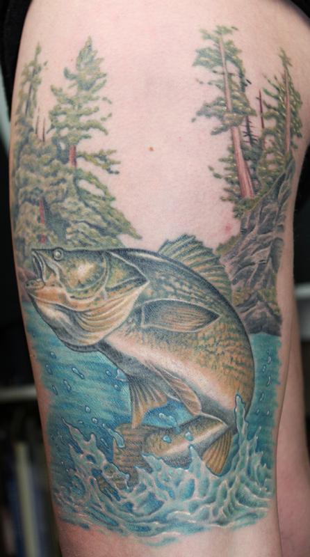 Walleye by david dettloff tattoonow for Ink lab tattoo