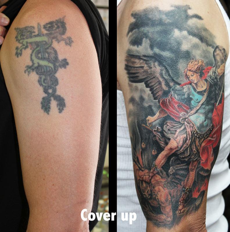 Archangel michael by david dettloff tattoonow for Ink lab tattoo