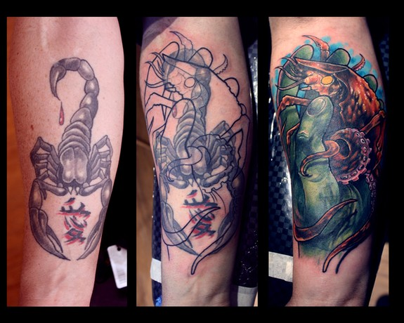 Nasty cover up by tim pangburn tattoonow for Art machine productions tattoo