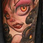 Gothic pinup babe Tattoo Design Thumbnail