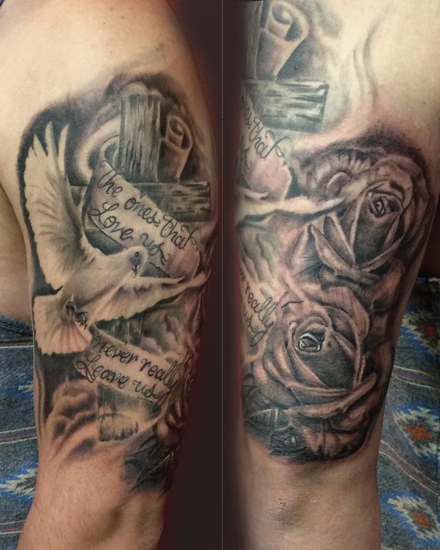 tony art tattoos tattoos body part arm sleeve holy spirit rh tonyarttattoos com holy spirit tattoo meaning holy spirit tattoo images