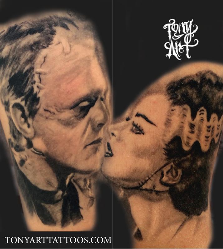 frankenstein bride tattoo