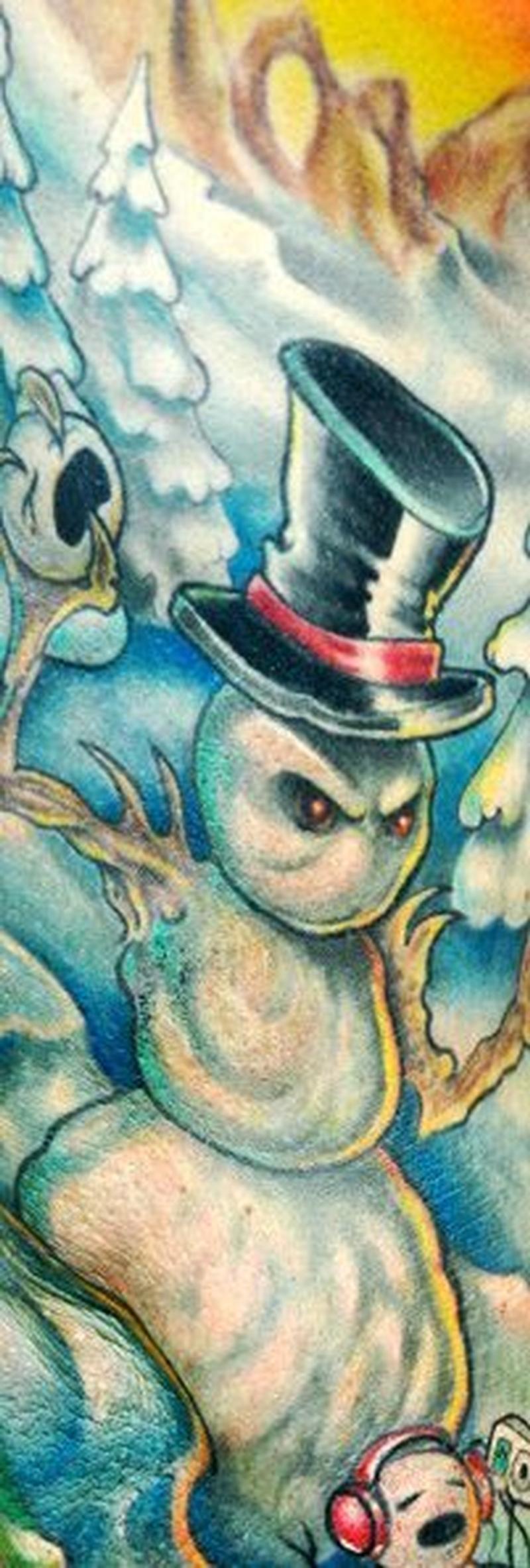 Snowman tattooEvil Snowman Tattoo