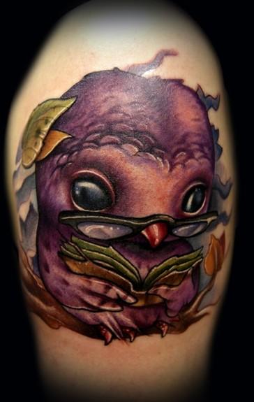 Nerdy Owl Tattoo Tattoos