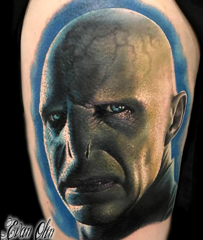 Powerline Tattoo Tattoos Evan Olin Voldemort From